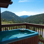 Your private hot tub with fabulous views
