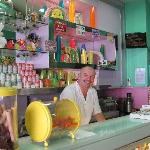 The owner and his very cute ice cream parlour