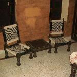 Sitzecke im Einzelzimmer