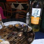 patelles et vin blanc