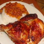BBQ chicken w/red beans and rice