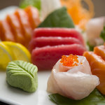 Selection of Sushi and Sashimi