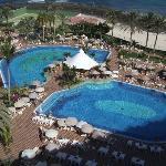 Swimming pools.