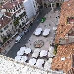 View of Piazza Erbe from tower