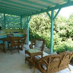 Studio Nevis, private terrace with well-equiped outside kitchette