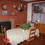 Guest will be able to enjoy breakfast in the kitchen area in front of the wood stove, watch TV,