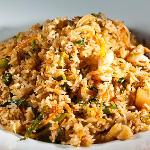Fried rice with scallops and a hint of lemongrass