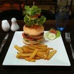 burger made home tenderloin beef