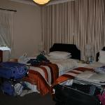 our roomy room with 2 double beds