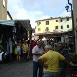 The Wednesday market in Peccioli
