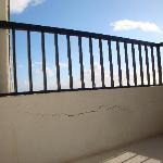 Crack in balcony wall.