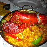 Seafood Paella - not on the menu - but amazing