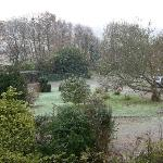 Mill House garden in the snow