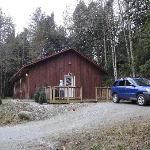 This is a picture of the cabin from outside.