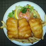 our delecious 3 piece fish and chips