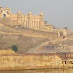 The magnificent Amber Fort on a hill, Jaipur