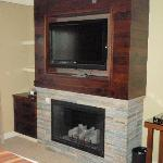 Loved the Fireplace & TV