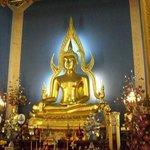 Foto einer Buddhastatue im Marmortempel
