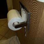 Toliet paper holder about to fall out