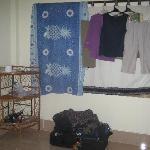Improvised wardrobe & curtain extension