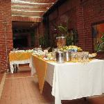 Breakfast area with wonderful bread selections and fresh eggs made to order.