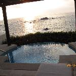 outside our suite, private jacuzzi