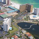Aerial view of the Resorts of Pelican Beach