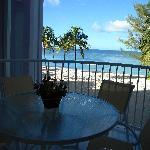 I loved eating breakfast on the balcony!