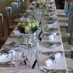 Table setting for Wedding day