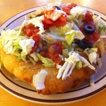 Indian Taco -- greasy fried bread