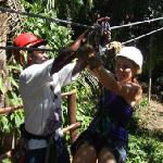 What a ride on the zipline