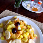 panqueques con fruta