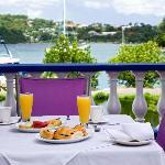 Breakfast in front of Vielle Bay