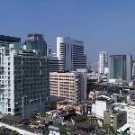 Blick vom Hotel zum Nana-Entertainment