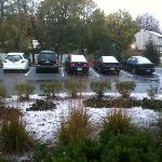 First snow, Monday, Nov 8th 2010
