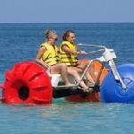 Our girls on the water trike