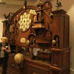 gigantic mechanical clock and calender