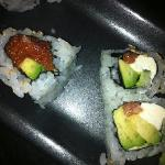 Left - Spicy Tuna.  Right - Philly roll minus the salmon