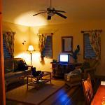 Living area from bedroom door