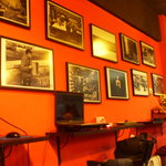 Nice photos display on the wall