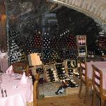 Wine cave in Le Midi restaurant