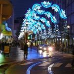 décorations de Noël dans les rues