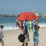 Shopping at Copacabana Beach outside Arena