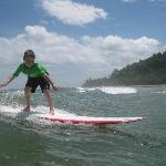 Surfing at 7 yo during 2nd trip with Lucero