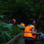 Trekking the steep hill of Kayangan