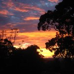 Sunset from upstairs veranda