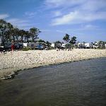 Beach side view of Castaways