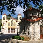 The cathedral and chapel at the central square of Kalavrita