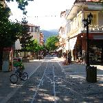 "The central street of Kalavrita - ""a railroad"""