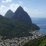 View of the Pitons and Soufriere